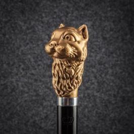 Трость для ходьбы «Кот учёный» (Золотая) Трости ручной работы мануфактуры Востротиных
