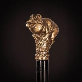 Трость для ходьбы «Царевна лягушка» (Золотая) Трости ручной работы мануфактуры Востротиных