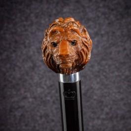 Трость для ходьбы «Лев» (Миндальная) Трости ручной работы мануфактуры Востротиных